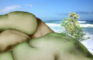 Fleischige Landschaft VII